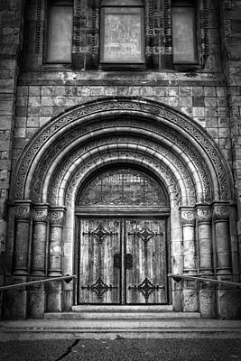 First Parish Church Of Plymouth Door Poster by Joan Carroll