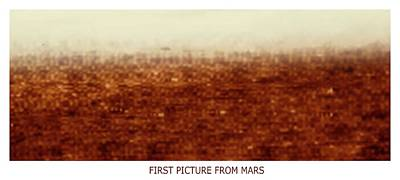 First Picture From Mars 3 Probe Poster by Russian Academy Of Sciences/detlev Van Ravenswaay