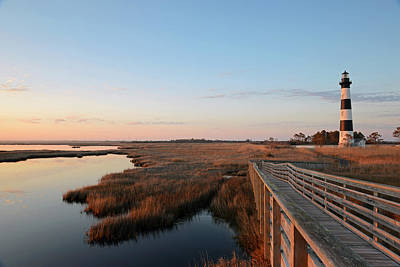 First Rays On Bodie Island Poster
