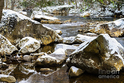 First Snow Cranberry River Poster