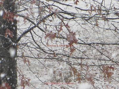 First Snowfall  Poster by Sonali Gangane