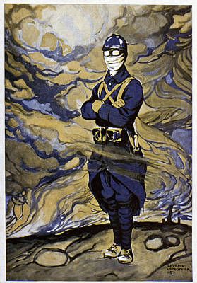 First World War Gas Protection Poster by Cci Archives