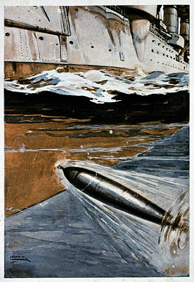 First World War Torpedo Poster