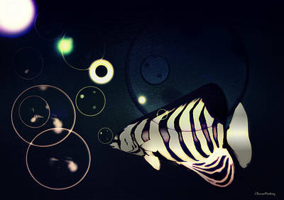 Fish Bubbles Poster by Ramon Martinez
