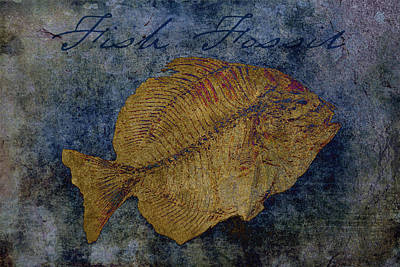 Fish Fossil Poster