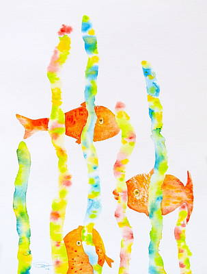 Poster featuring the painting Fish Fun by Michele Myers