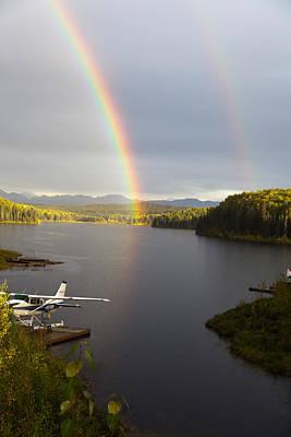 Fish Lake Rainbows 1 Poster by Dora Miller