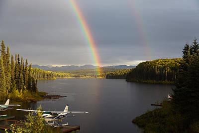 Fish Lake Rainbows 2 Poster by Dora Miller