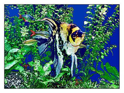 Fish Life Poster by Joan  Minchak
