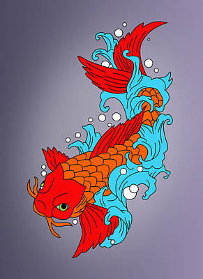 Fish Poster by Mark Ashkenazi