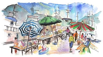 Fish Market In Santa Flavia Poster by Miki De Goodaboom