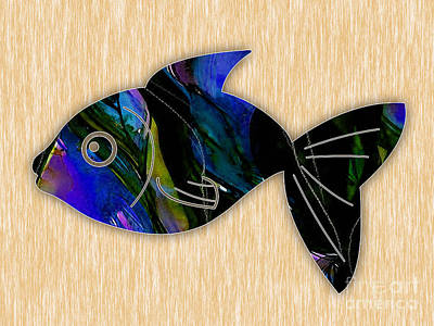 Fish Painting Poster
