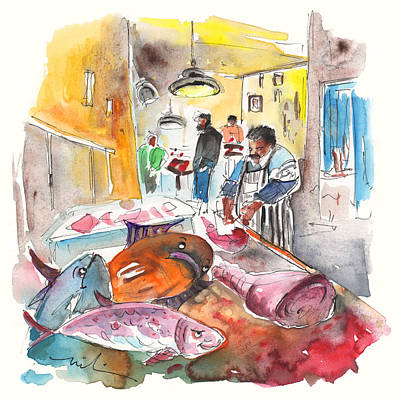 Fish Shop In Siracusa Poster by Miki De Goodaboom