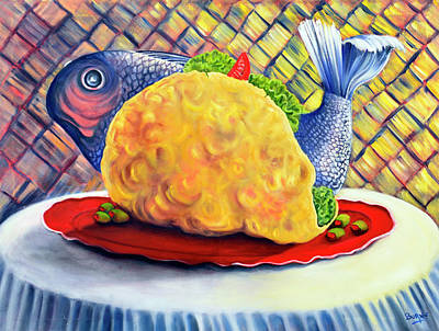 Fish Taco Poster by Randy Burns