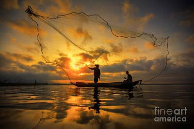 Fisherman Poster by Anek Suwannaphoom
