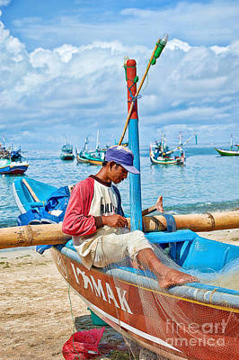 Poster featuring the photograph Fisherman by Yew Kwang