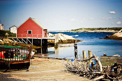 Poster featuring the photograph Fisherman's Cove by Sara Frank
