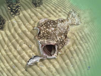 Fisherman's Post Flounder Poster