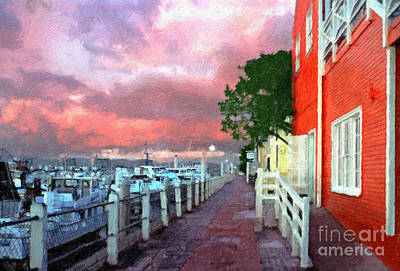 Poster featuring the photograph Fisherman's Village Marina Del Mar Ca by David Zanzinger