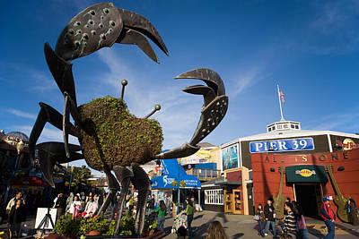 Fishermans Wharf Crab Poster