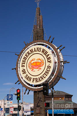 Fishermans Wharf San Francisco California Dsc2028 Poster by Wingsdomain Art and Photography