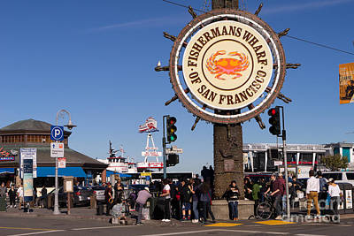 Fishermans Wharf San Francisco California Dsc2032 Poster by Wingsdomain Art and Photography