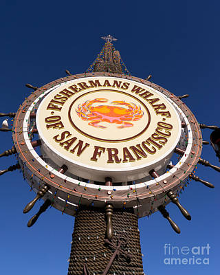 Fishermans Wharf San Francisco California Dsc2050 Poster by Wingsdomain Art and Photography