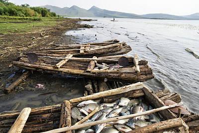 Fishermen On Lake Chamo, Arba Minch Poster by Martin Zwick