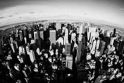 Fisheye View North Towards Central Park New York City Usa Poster by Joe Fox