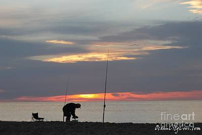 Poster featuring the photograph Fishing At Sunrise by Robert Banach