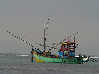 Fishing Boat At Anchor, Matara Poster by Panoramic Images
