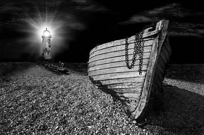 Fishing Boat Graveyard 5 Poster by Meirion Matthias