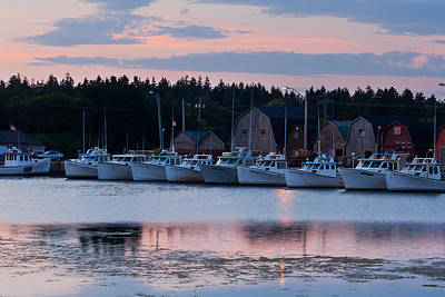 Fishing Boats At Malpeque Harbour Poster