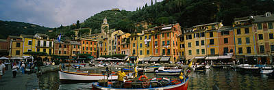 Fishing Boats At The Harbor, Portofino Poster by Panoramic Images