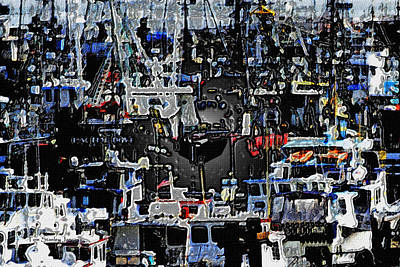 Fishing Boats In Harbor Poster by Tom Janca