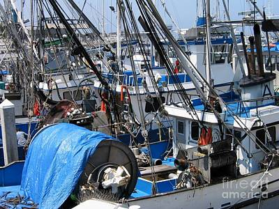 Fishing Boats In Monterey Harbor Poster