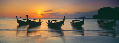 Fishing Boats In The Sea, Railay Beach Poster by Panoramic Images