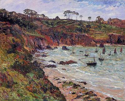 Fishing For Sprats Poster by MAxime Emile Louis Maufra