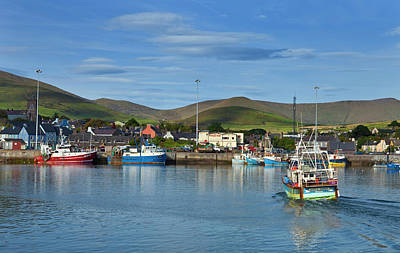 Fishing Harbour In Dingle Town, Dingle Poster