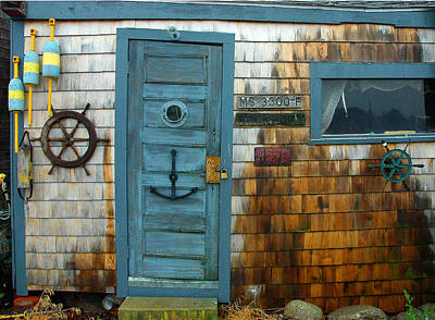 Fishing Hut At Rockport Maritime Poster by Jon Holiday