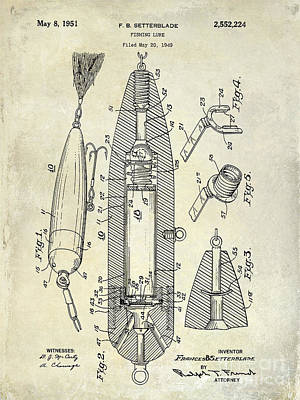Fishing Lure Patent  Poster