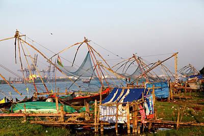 Fishing Nets In Fort Kochi, Kerala Poster