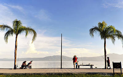 Poster featuring the photograph Fishing On Lake Chapala by David Perry Lawrence