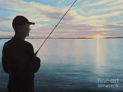 Fishing On The Flats Poster by Jimmie Bartlett
