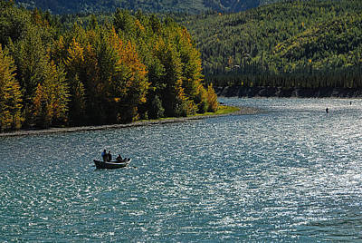 Fishing On The Kenai River Poster by Dyle   Warren