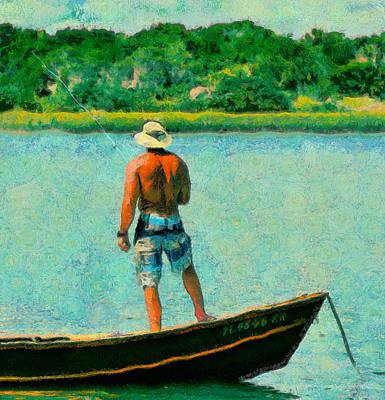 Fishing On The Matanzas Poster