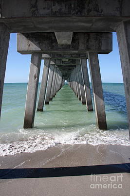 Fishing Pier Architecture Poster