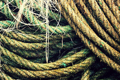 Fishing Rope Textures Poster