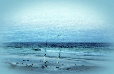 Fishing Poster by Sandy Keeton