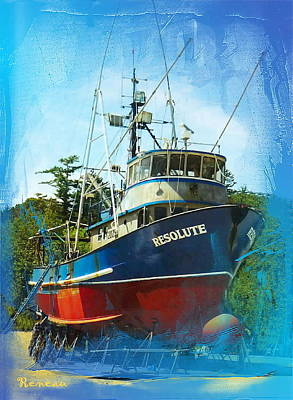 Fishing Vessel Resolute Poster